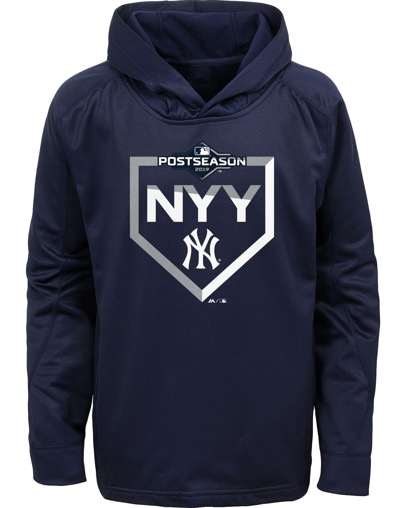 Majestic Youth New York Yankees 2019 MLB Postseason On-Field Therma Base Hoodie