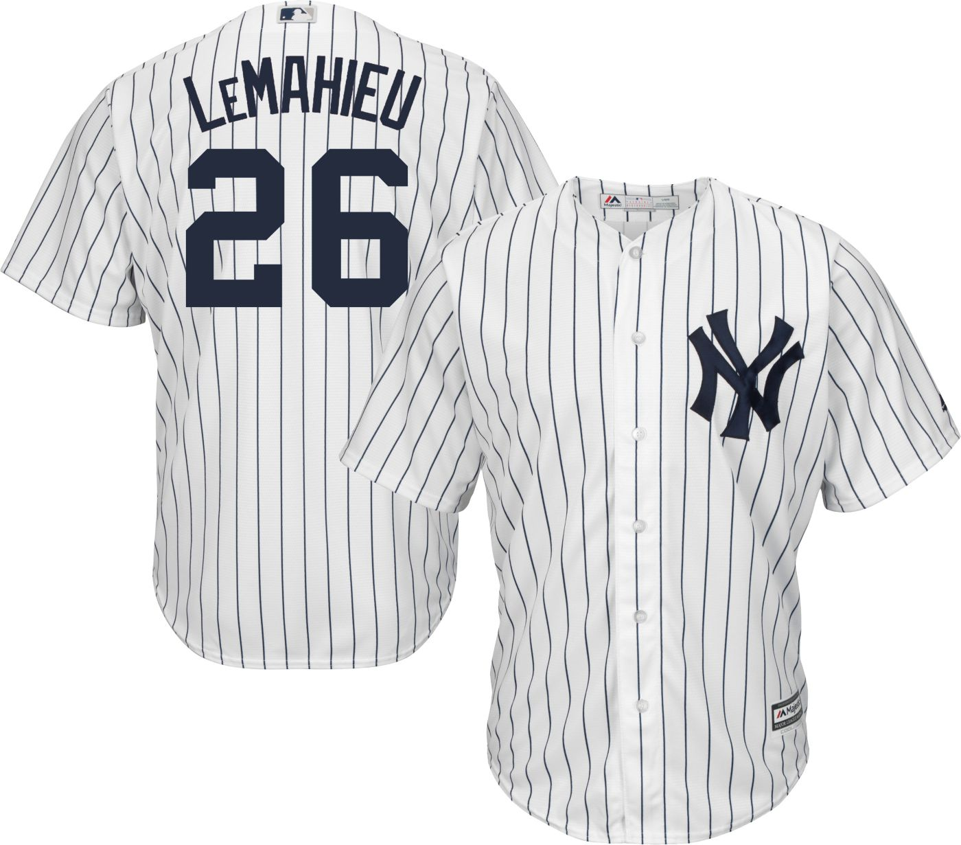 Majestic Youth Replica New York Yankees D.J. LeMahieu #26 Cool Base Home White Jersey