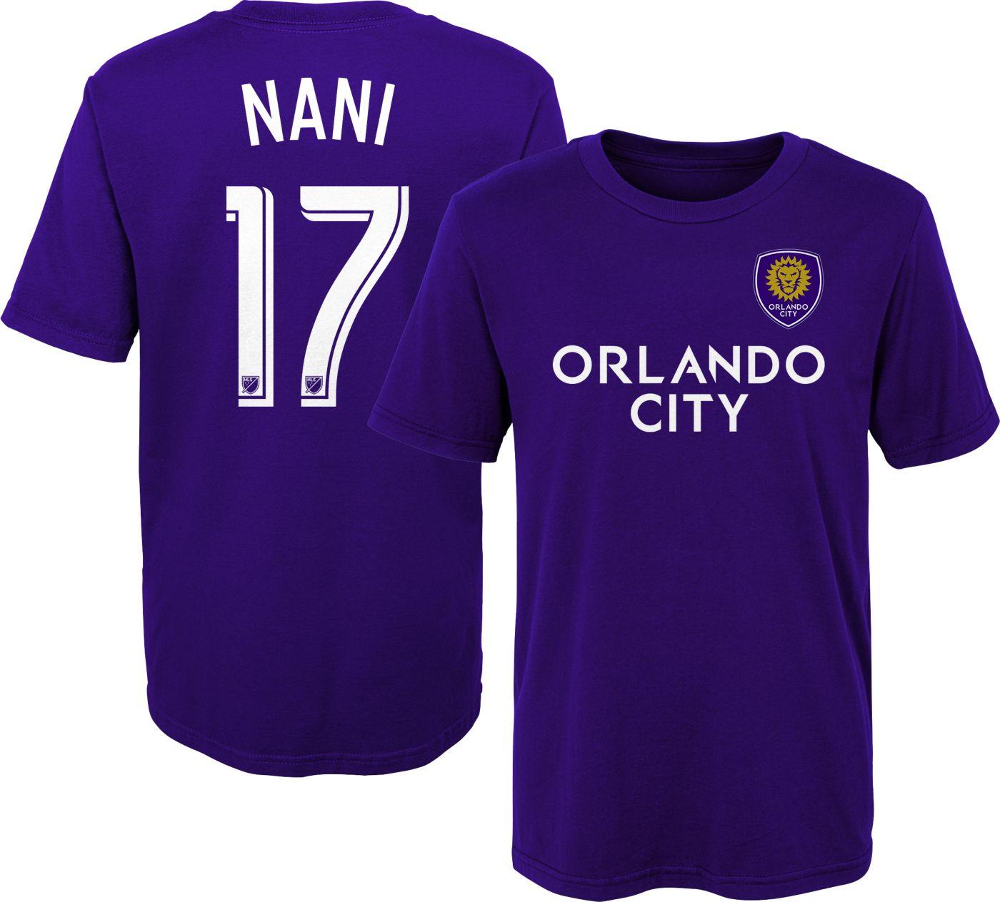 MLS Youth Orlando City Nani #17 Purple Player T-Shirt