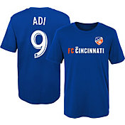 MLS Youth FC Cincinnati Fanendo Adi #9 Royal Player T-Shirt