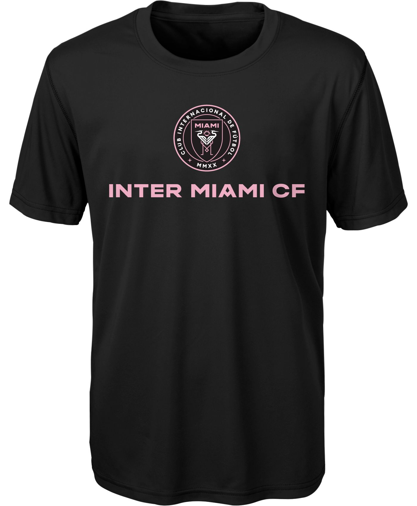 MLS Youth Inter Miami FC Club Name Black Performance T-Shirt