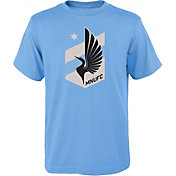 MLS Youth Minnesota United FC Primary Logo Light Blue T-Shirt