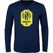 MLS Youth Nashville SC Primary Logo Navy Long Sleeve Shirt