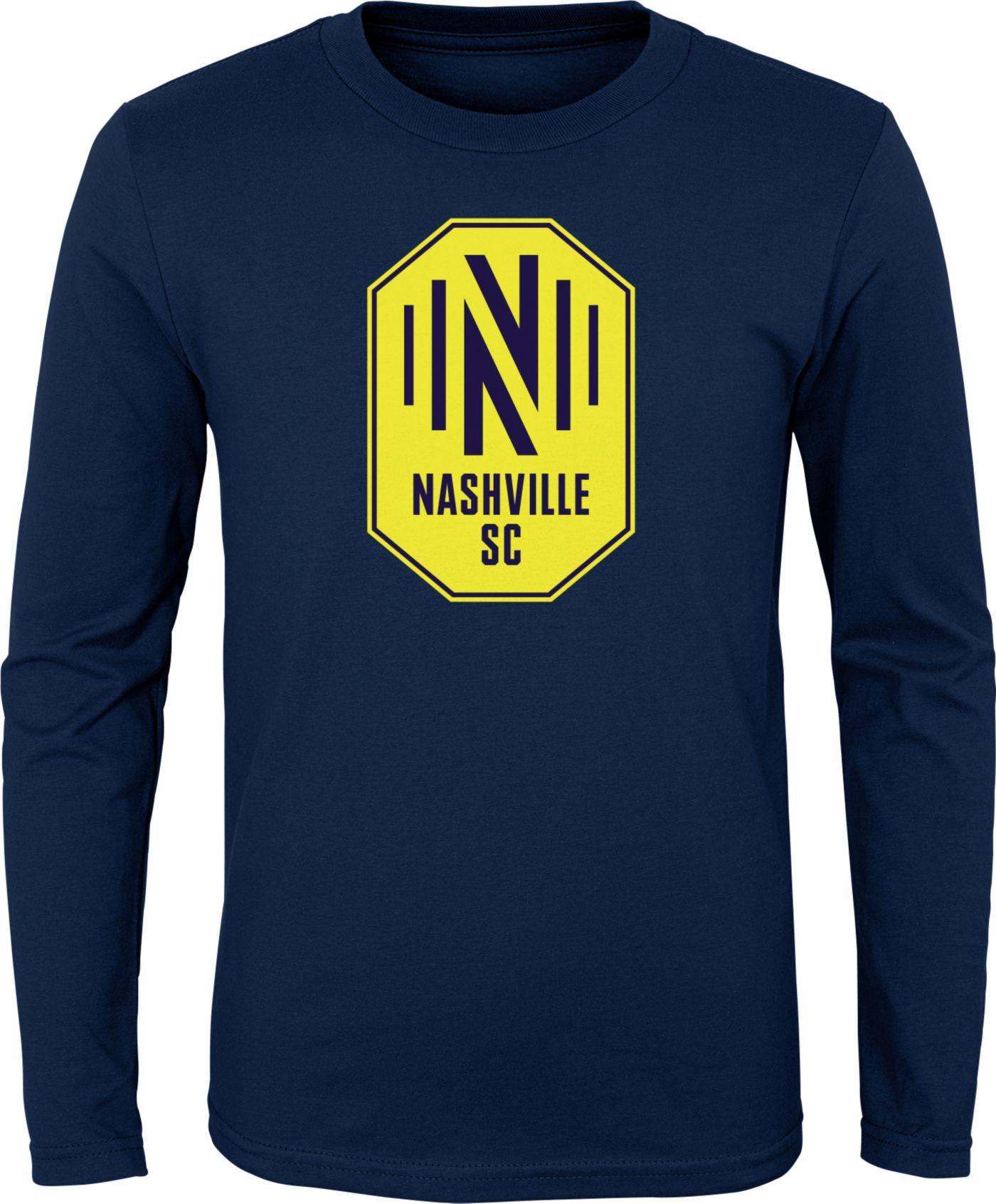 MLS Youth Nashville SC Primary Logo Navy Long Sleeve Shirt