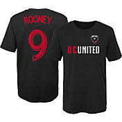 MLS Youth D.C. United Wayne Rooney #9 Black Player T-Shirt