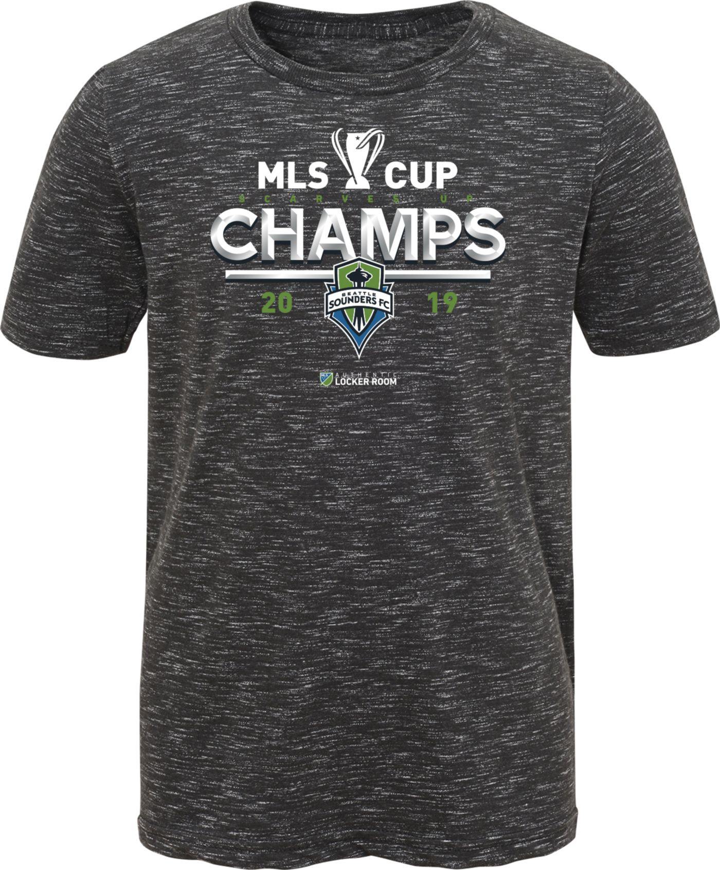 MLS Youth 2019 MLS Cup Champions Seattle Sounders Locker Room T-Shirt