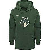 Nike Youth Milwaukee Bucks City Edition Green Hoodie
