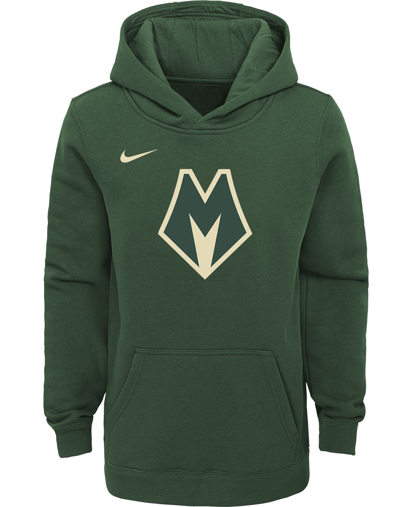 Nike Youth Milwaukee Bucks City Edition Green Hoodie
