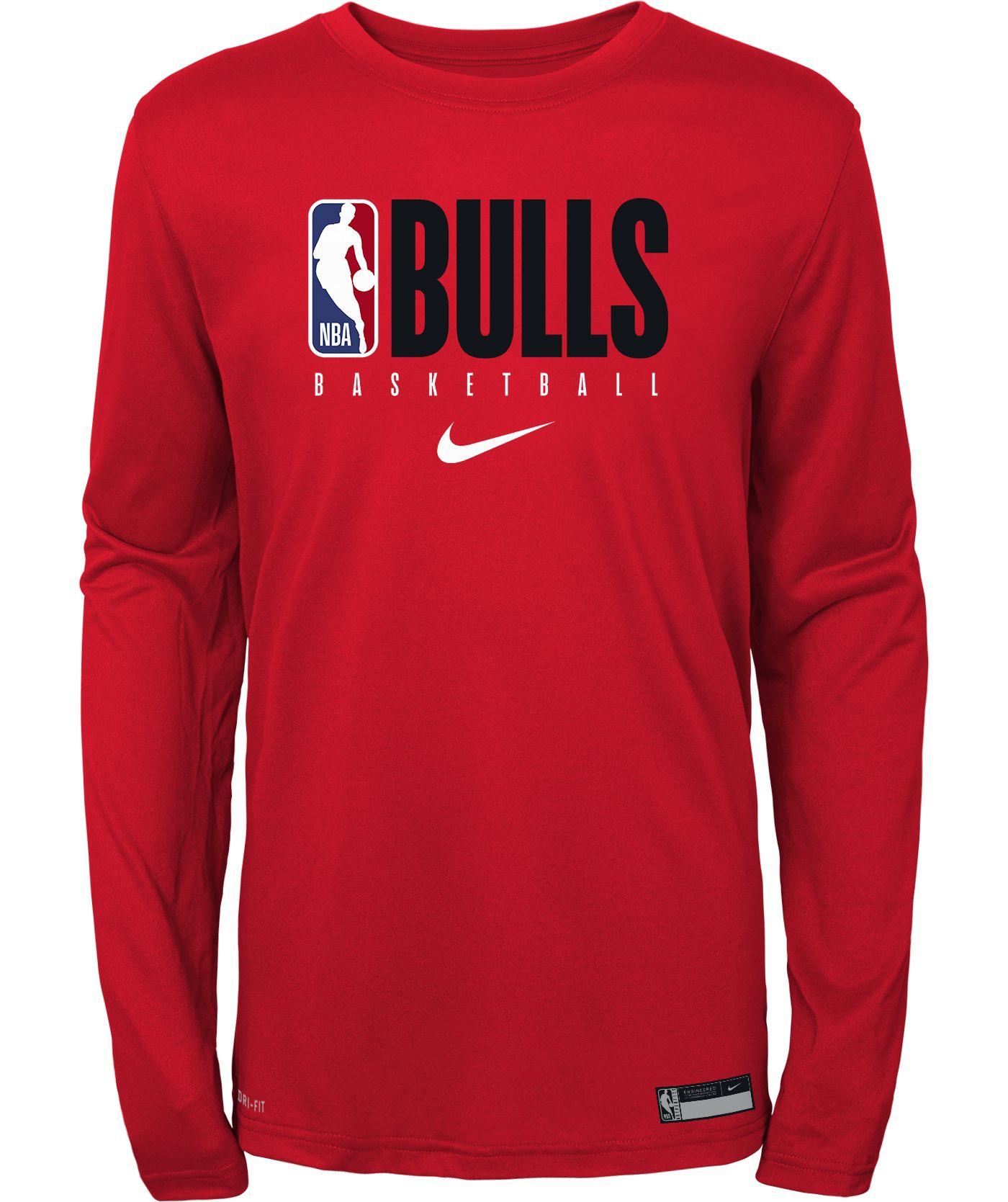 Nike Youth Chicago Bulls Dri-FIT Practice Long Sleeve Shirt
