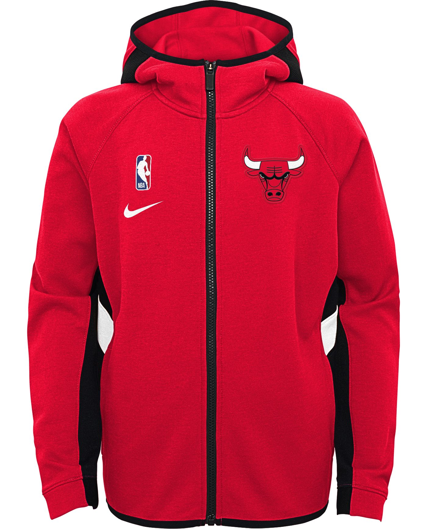 Nike Youth Chicago Bulls On-Court Therma Flex Showtime Full-Zip Hoodie
