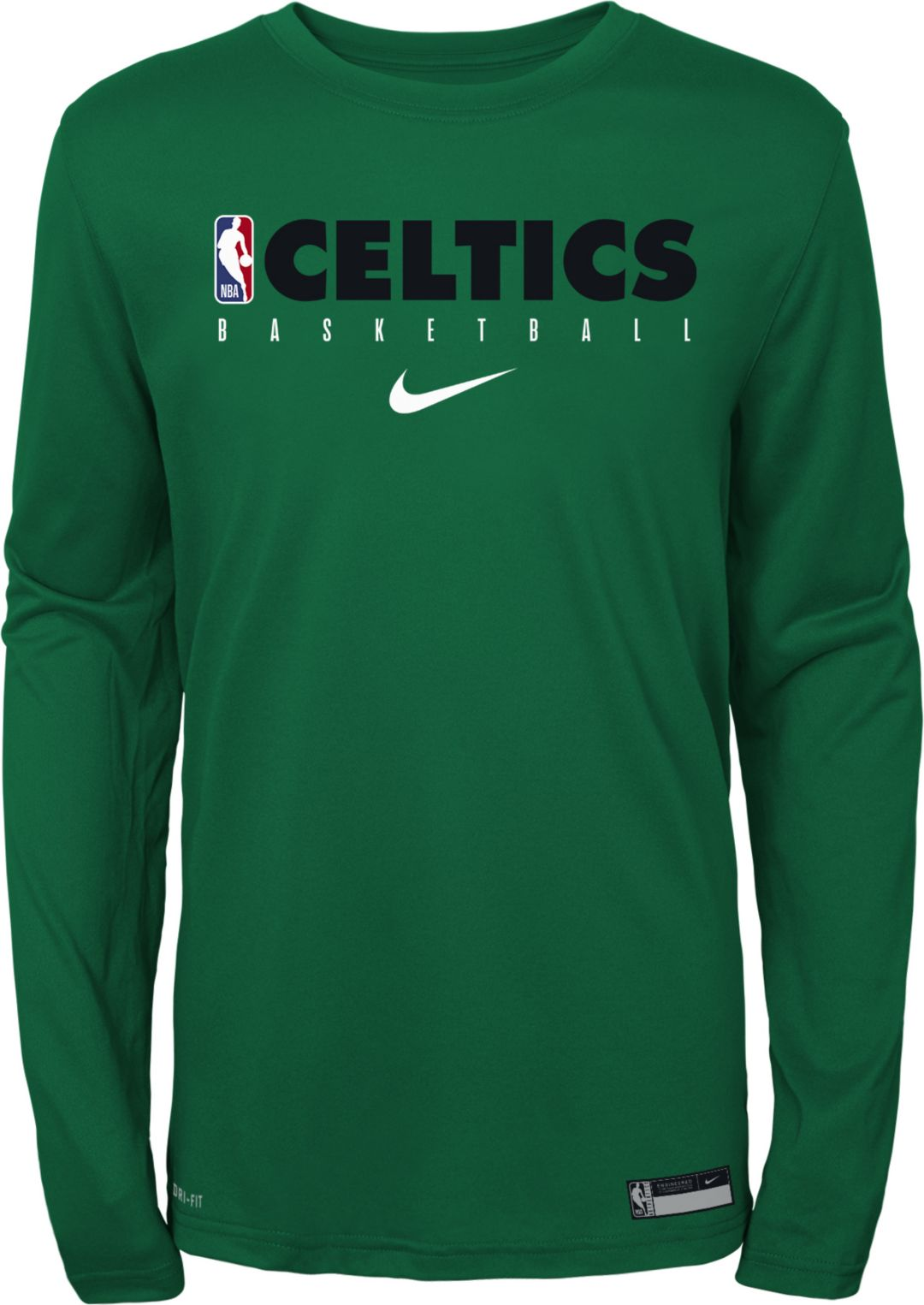reputable site nice shoes best cheap Nike Youth Boston Celtics Dri-FIT Practice Long Sleeve Shirt