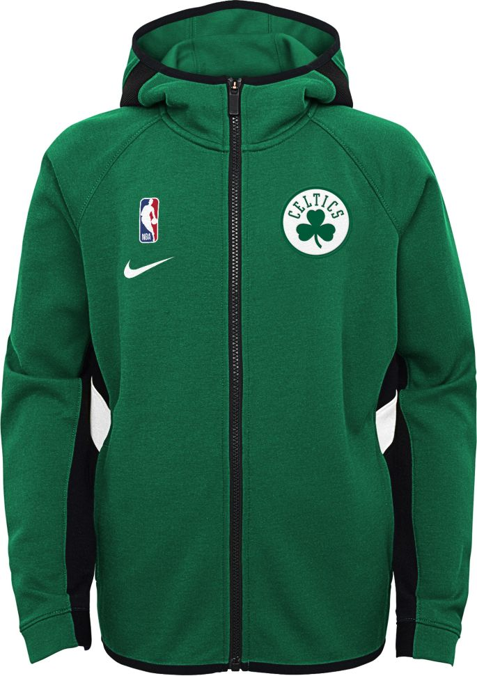 Nike Youth Boston Celtics On Court Therma Flex Showtime Full Zip Hoodie