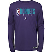 Jordan Youth Charlotte Hornets Dri-FIT Practice Long Sleeve Shirt