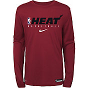 Nike Youth Miami Heat Dri-FIT Practice Long Sleeve Shirt