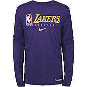 Nike Youth Los Angeles Lakers Dri-FIT Practice Long Sleeve Shirt