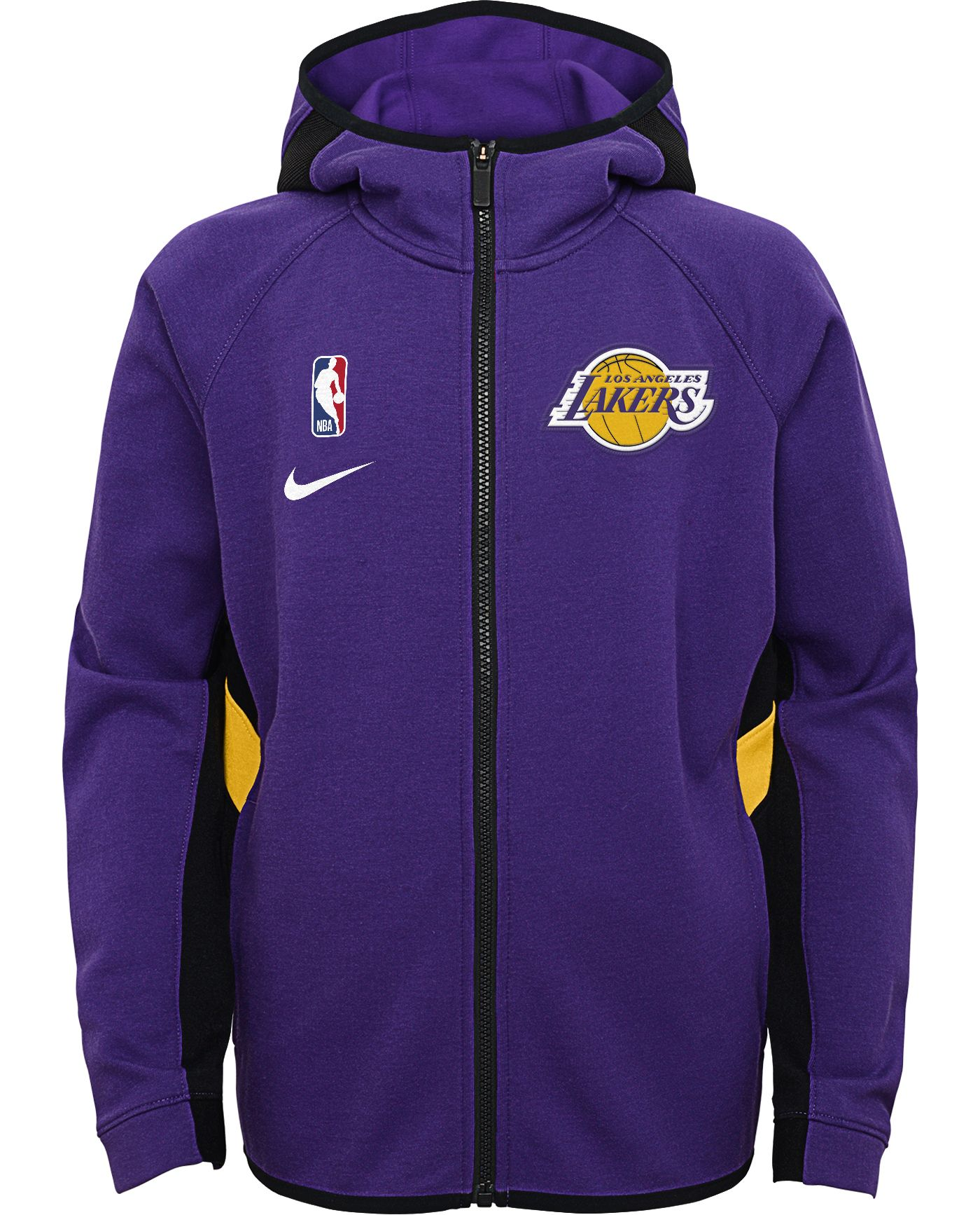 Nike Youth Los Angeles Lakers On-Court Therma Flex Showtime Full-Zip Hoodie