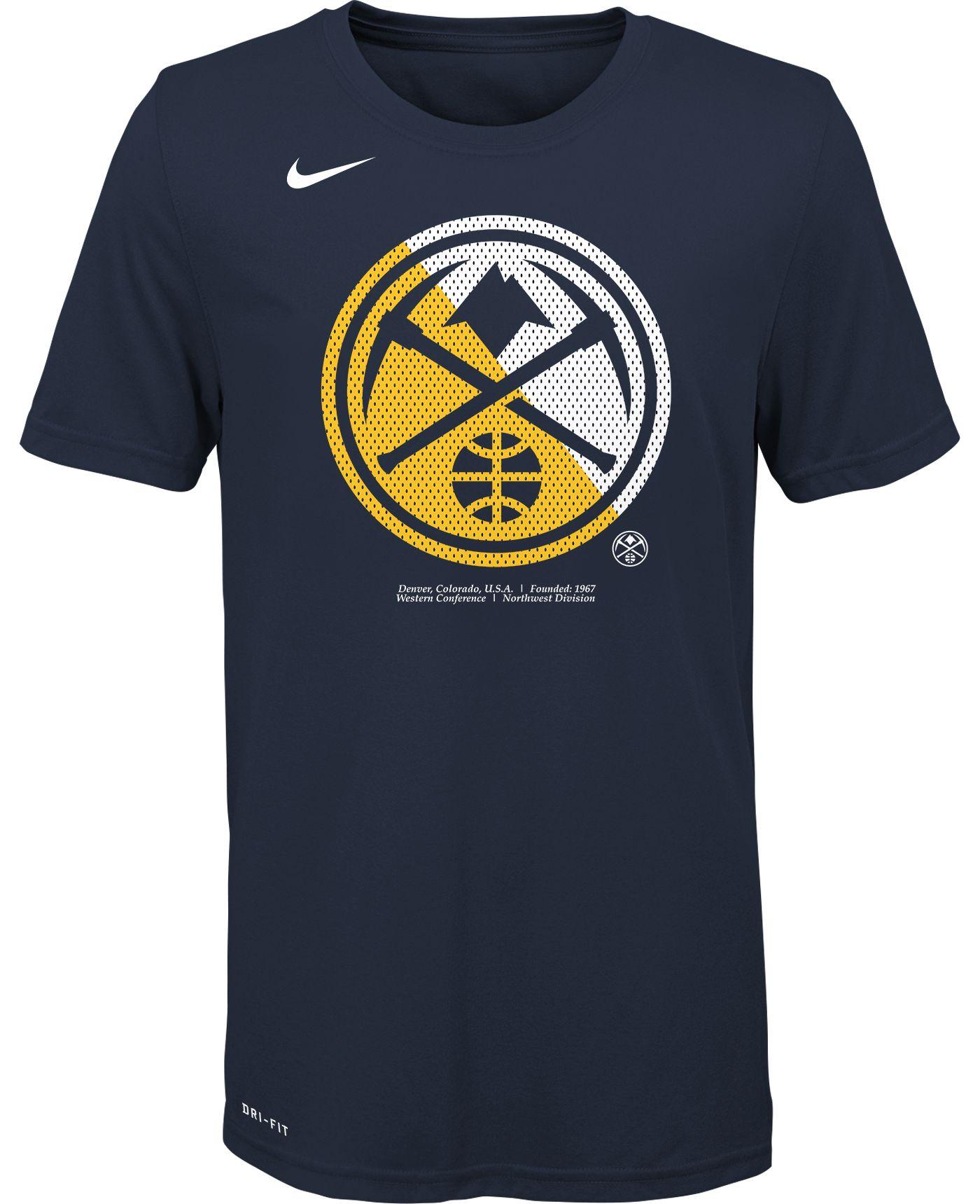 Nike Youth Denver Nuggets Dri-FIT Split Logo T-Shirt