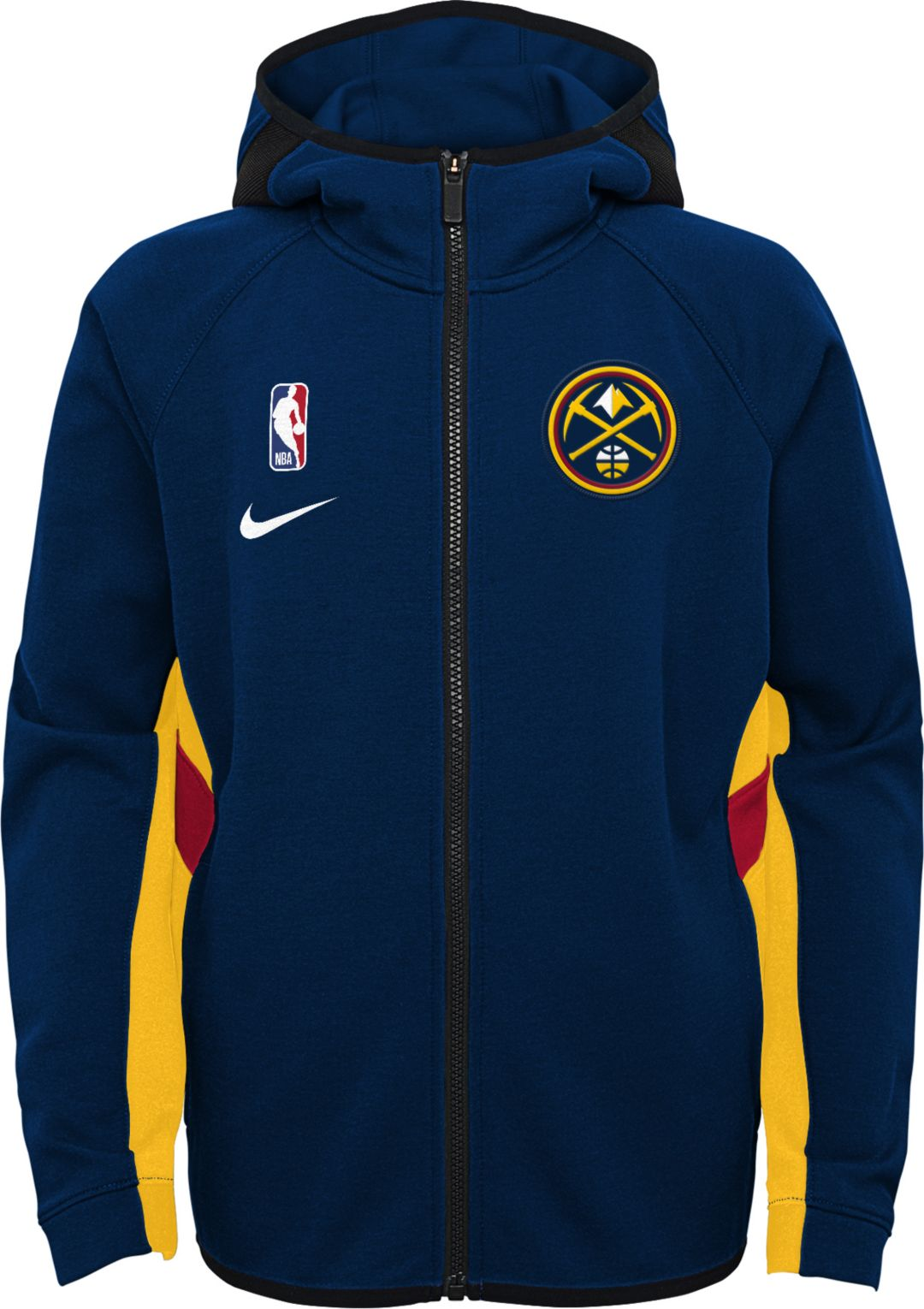 Nike Youth Denver Nuggets On Court Therma Flex Showtime Full Zip Hoodie