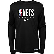 Nike Youth Brooklyn Nets Dri-FIT Practice Long Sleeve Shirt