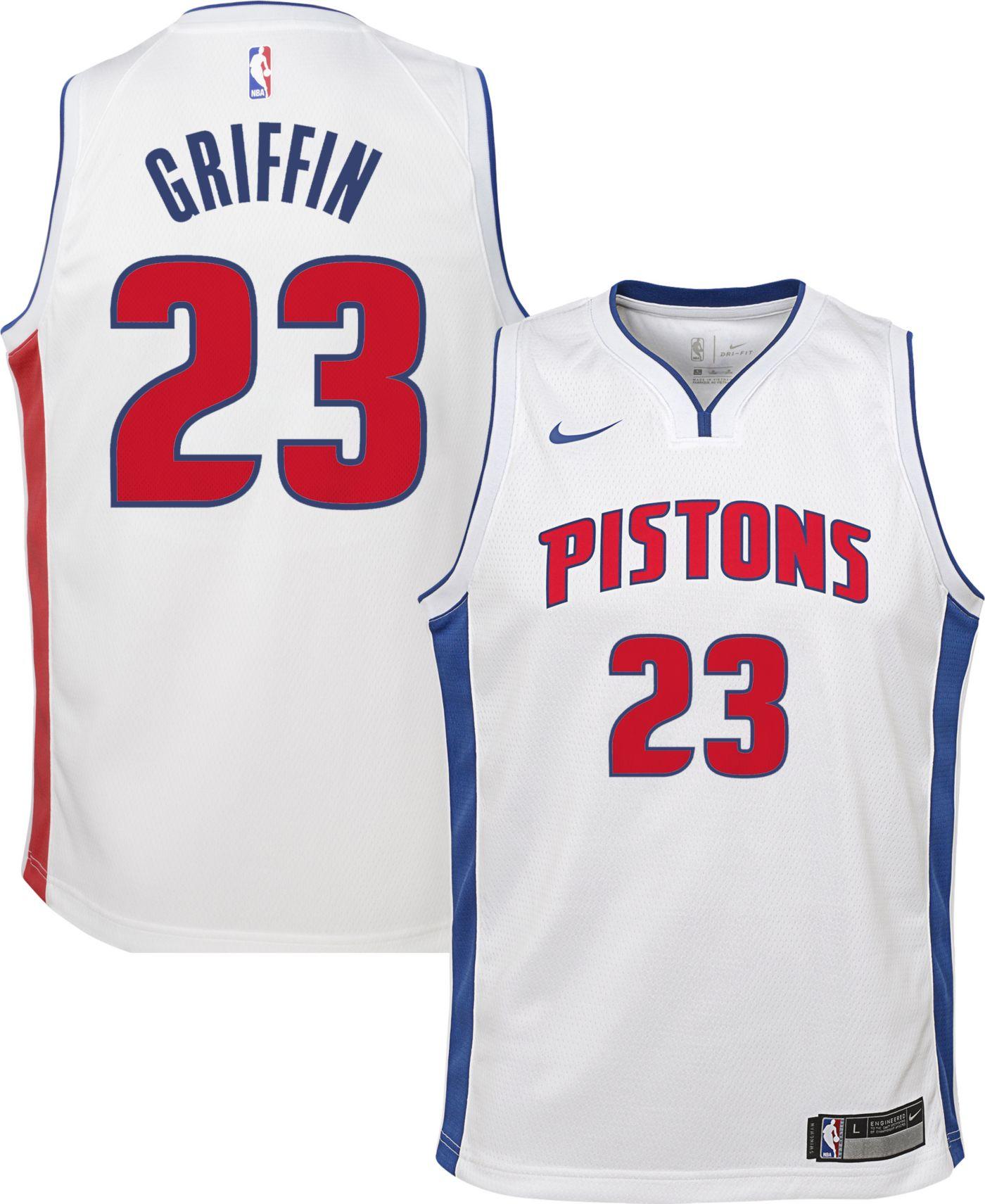Nike Youth Detroit Pistons Blake Griffin #23 White Dri-FIT Swingman Jersey