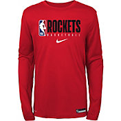 Nike Youth Houston Rockets Dri-FIT Practice Long Sleeve Shirt