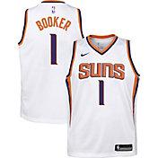 Nike Youth Phoenix Suns Devin Booker #1 White Dri-FIT Swingman Jersey