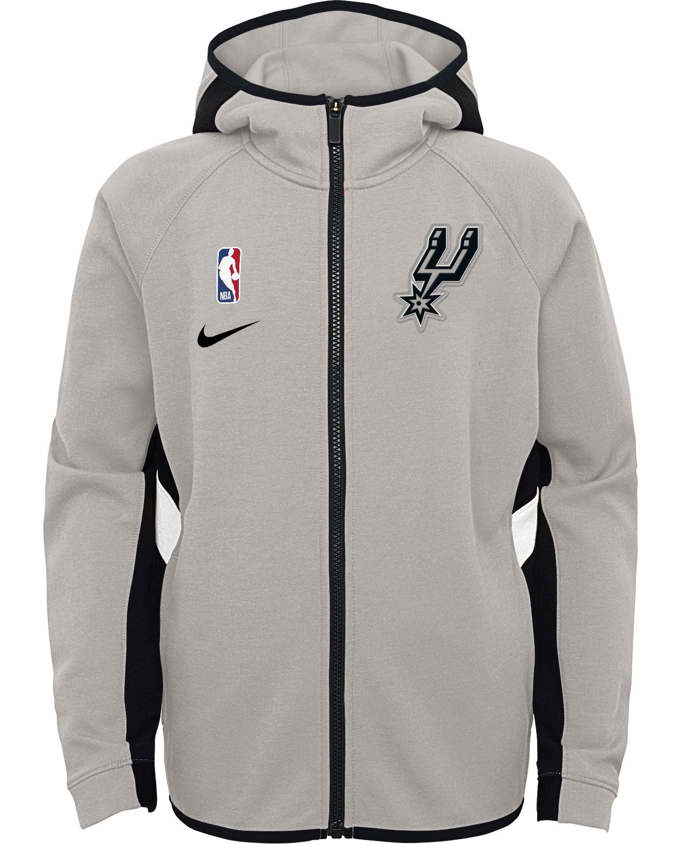 Nike Youth San Antonio Spurs On-Court Therma Flex Showtime Full-Zip Hoodie