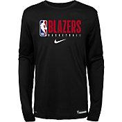 Nike Youth Portland Trail Blazers Dri-FIT Practice Long Sleeve Shirt