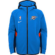 Nike Youth Oklahoma City Thunder On-Court Therma Flex Showtime Full-Zip Hoodie