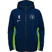 Nike Youth Minnesota Timberwolves On-Court Therma Flex Showtime Full-Zip Hoodie