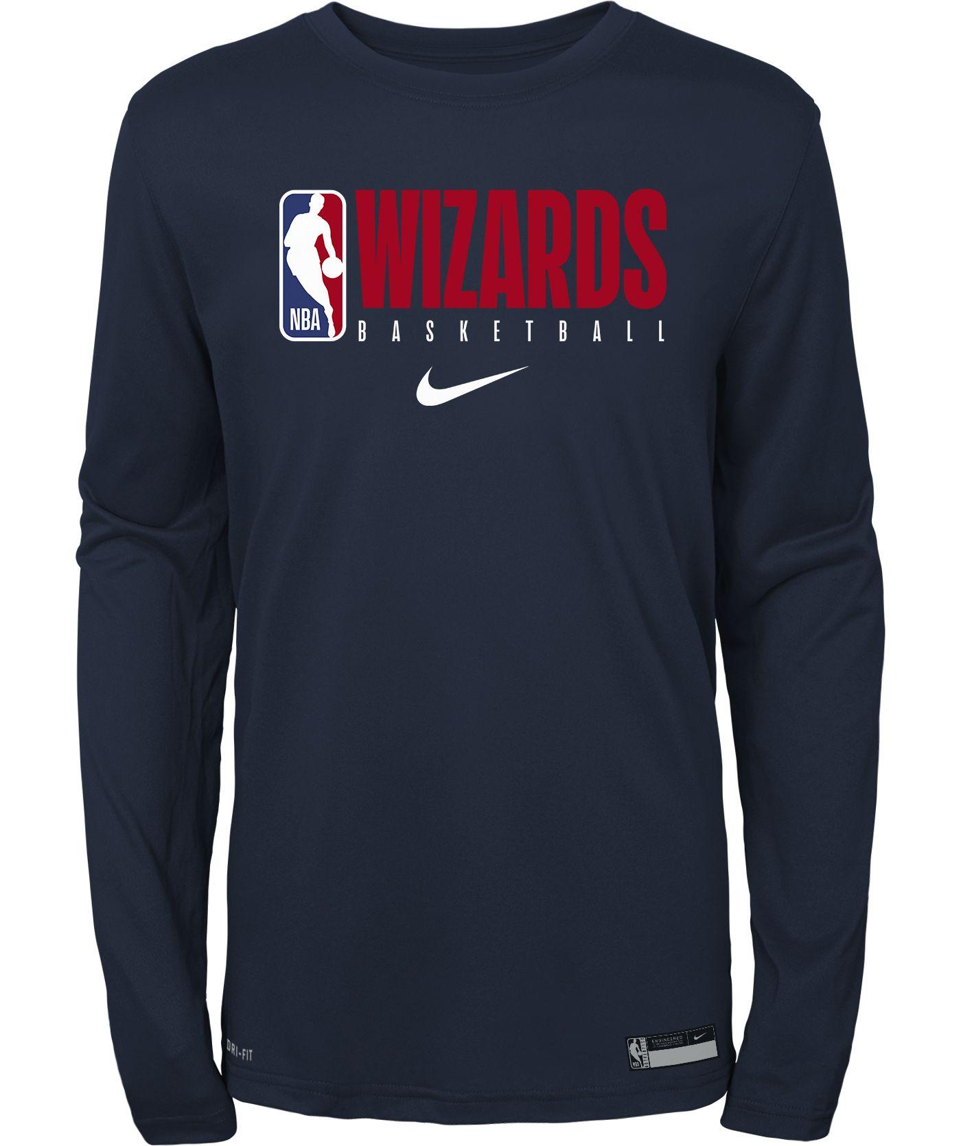 Nike Youth Washington Wizards Dri-FIT Practice Long Sleeve Shirt