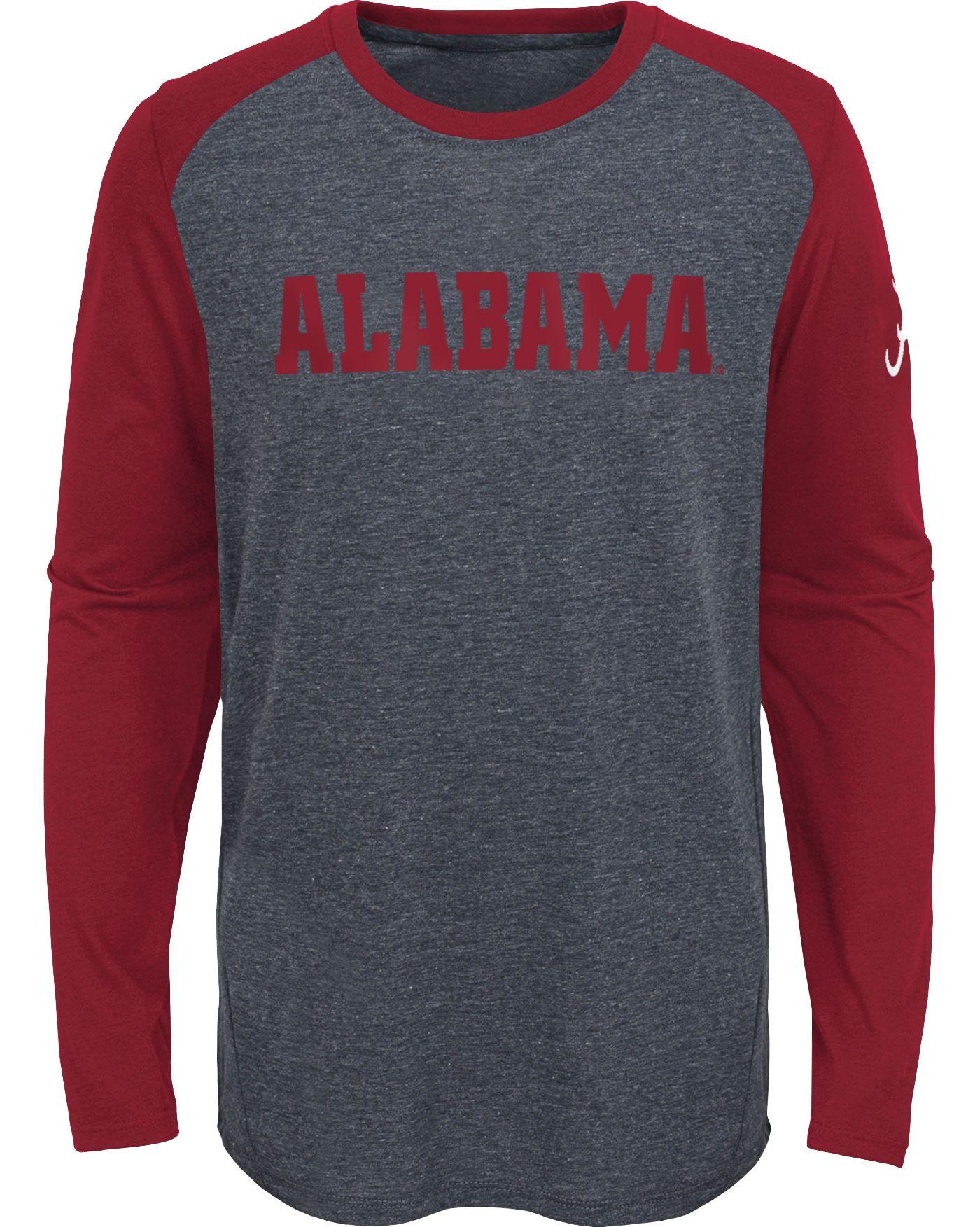 Gen2 Youth Alabama Crimson Tide Grey First String Long Sleeve T-Shirt