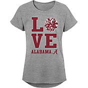 Gen2 Youth Girls' Alabama Crimson Tide Grey Pom Pom Love T-Shirt