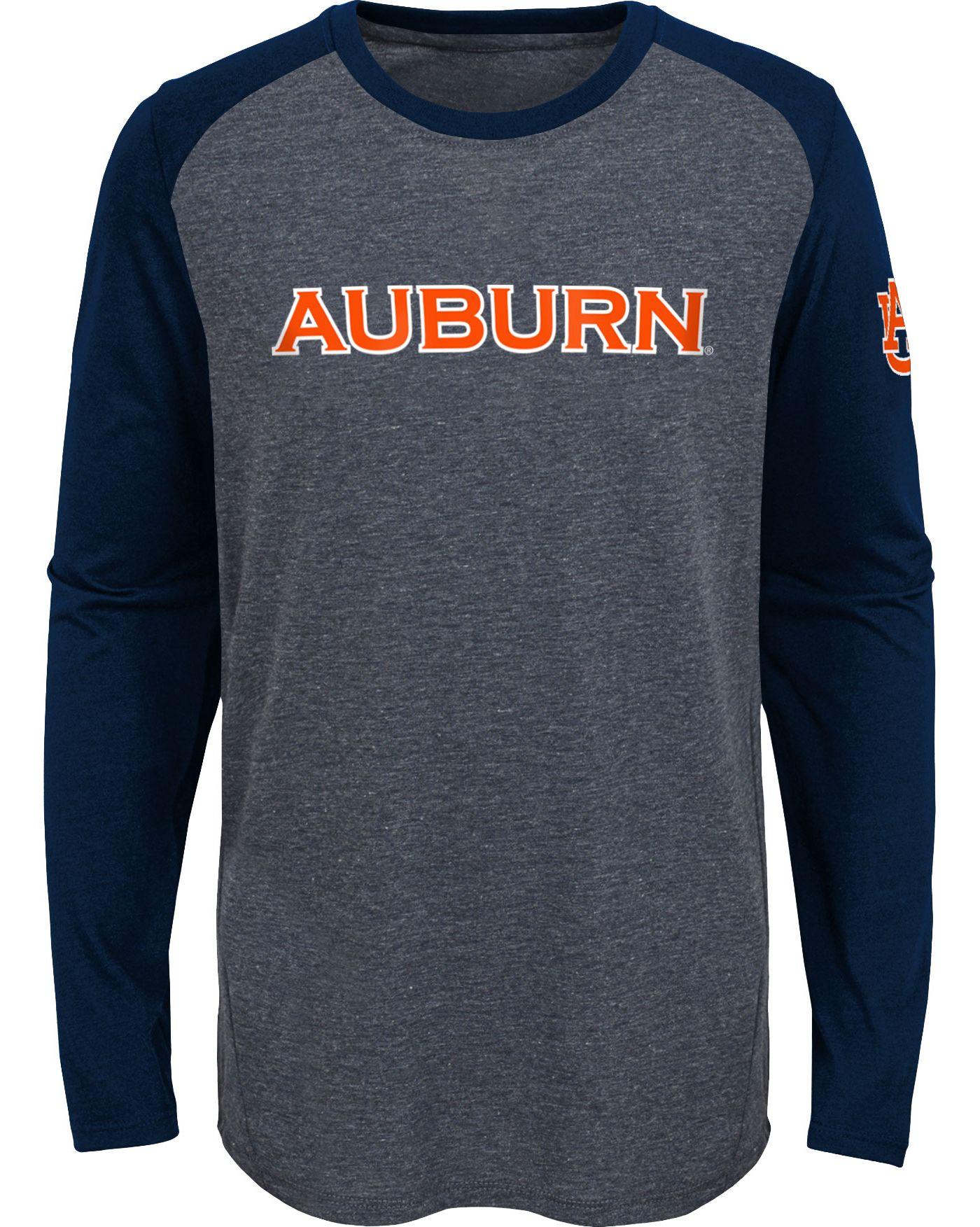 Gen2 Youth Auburn Tigers Grey First String Long Sleeve T-Shirt