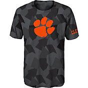 Gen2 Boys' Clemson Tigers Grey Sublimated Print Stadium T-Shirt