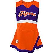 Gen2 Youth Girls' Clemson Tigers Orange Cheer Captain 2-Piece Jumper Dress