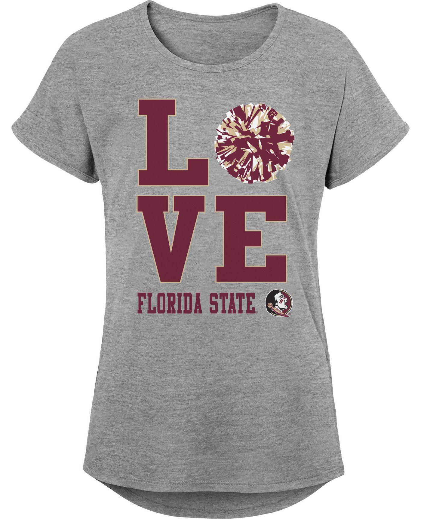 Gen2 Youth Girls' Florida State Seminoles Grey Pom Pom Love T-Shirt