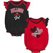 Gen2 Infant Georgia Bulldogs Red Celebration 2-Piece Onesie Set