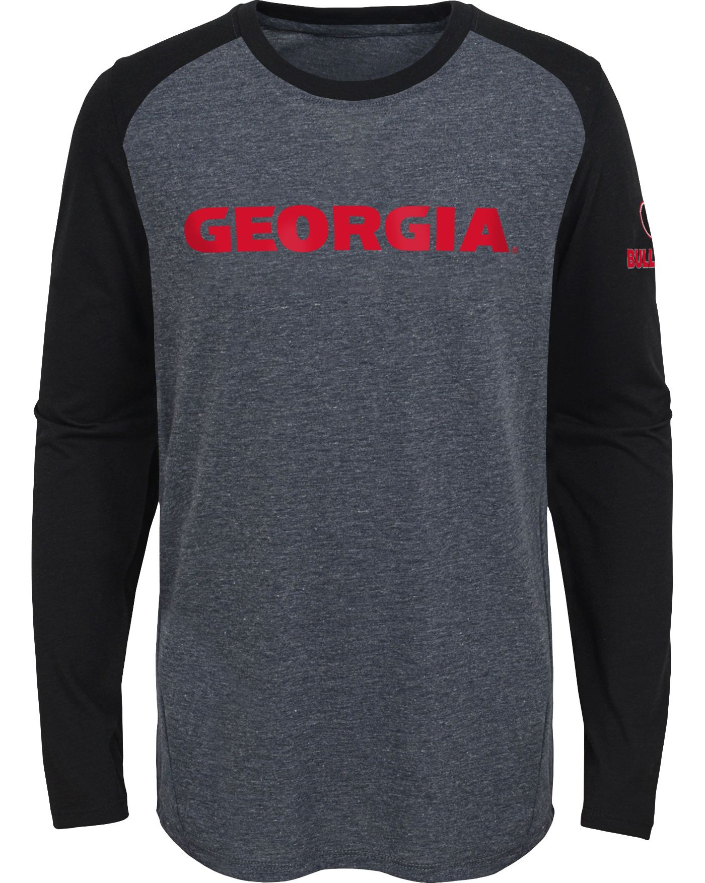 Gen2 Youth Georgia Bulldogs Grey First String Long Sleeve T-Shirt
