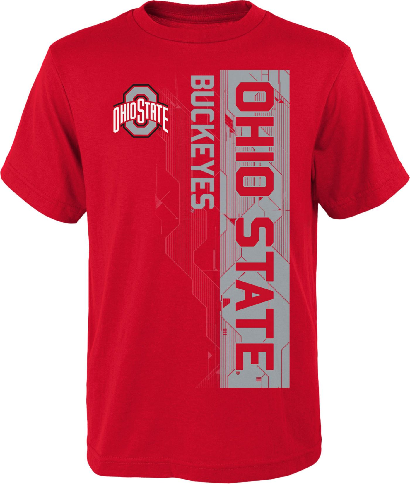 Gen2 Boys' Ohio State Buckeyes Scarlet Challenger T-Shirt