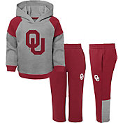 Gen2 Toddler Boys' Oklahoma Sooners Grey/Crimson Sideline 2-Piece Fleece Set