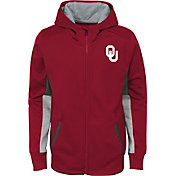 Gen2 Youth Oklahoma Sooners Crimson Full-Zip Performance Hoodie