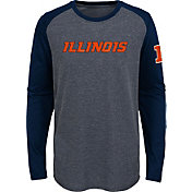 Gen2 Youth Illinois Fighting Illini Grey First String Long Sleeve T-Shirt