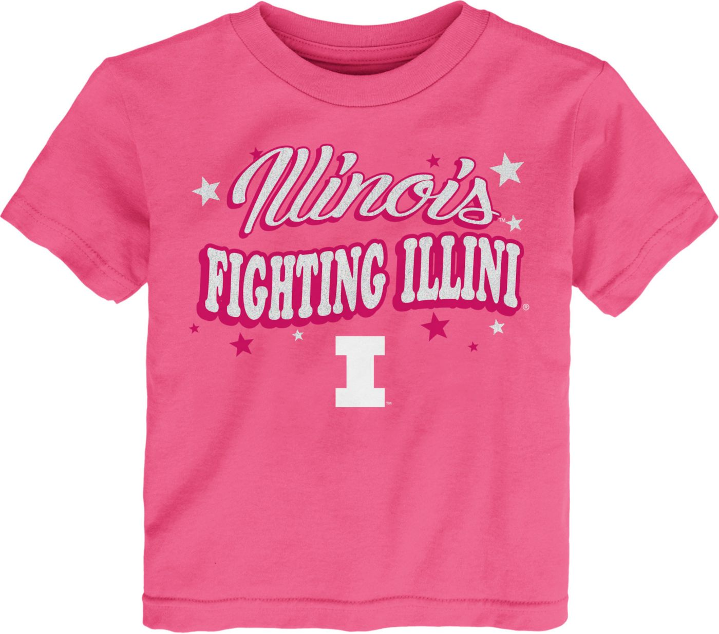 Gen2 Toddler Girls' Illinois Fighting Illini Pink My Team T-Shirt