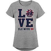 Gen2 Youth Girls' Ole Miss Rebels Grey Pom Pom Love T-Shirt