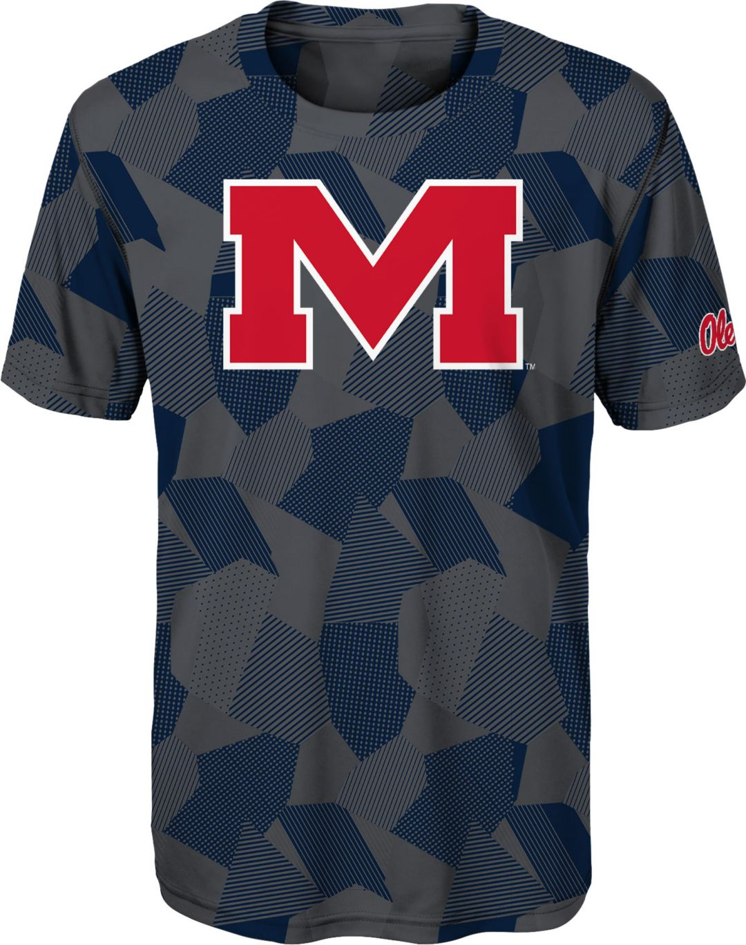new arrivals 6bdfb a65dc Gen2 Boys' Ole Miss Rebels Grey Sublimated Print Stadium T-Shirt