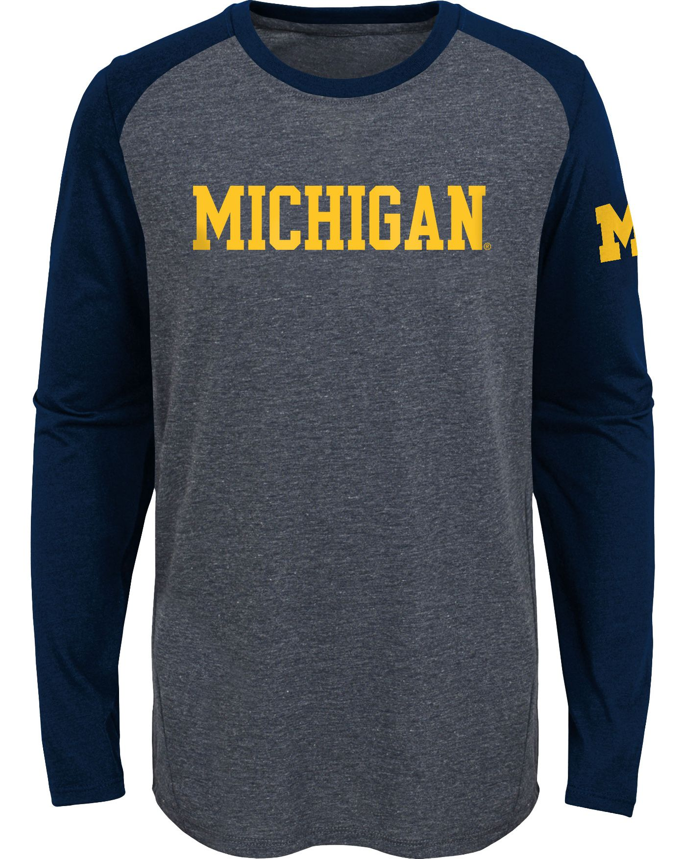 Gen2 Youth Michigan Wolverines Grey First String Long Sleeve T-Shirt