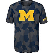 Gen2 Boys' Michigan Wolverines Grey Sublimated Print Stadium T-Shirt