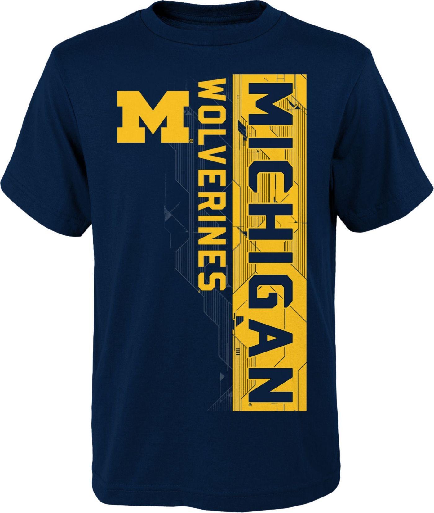 Gen2 Boys' Michigan Wolverines Blue Challenger T-Shirt