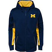 Gen2 Youth Michigan Wolverines Blue Full-Zip Performance Hoodie